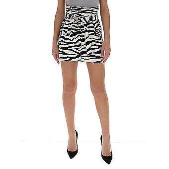 Attico 201wcs06p022020 Frauen's weiß/schwarz Baumwollrock