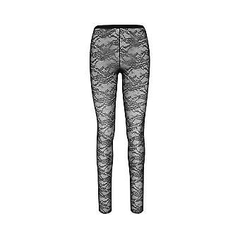 Red Valentino Tr3md00x4yg0no Women's Black Polyester Leggings