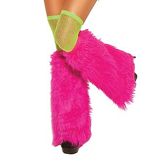 Furry Boot Cover Leg Warmers Costume Accessory