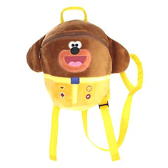 Hey Duggee Soft Velour Parental Control Backpack With Reins Yellow