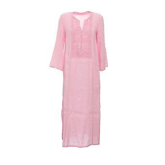 120% N0w4748000b317000n085 Women's Pink Linen Dress