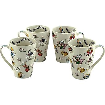 Cardew Alice Through The Looking Glass 15 Oz. 4 Mug Set