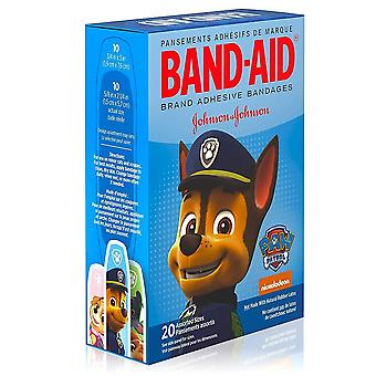 Band-aid bandages nickelodeon paw patrol, assorted sizes, 20 ea