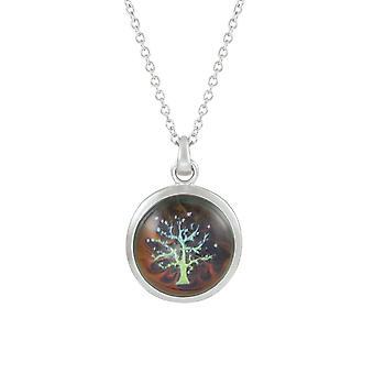 evig samling treet av livet humør farge endring sølv tone anheng