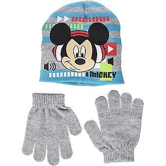 Disney Musse Pigg pojkar 2 Piece set mössa & handskar