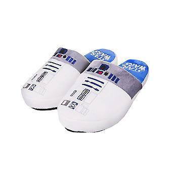 Star Wars R2D2 Women's White Mule Slip-On Slippers