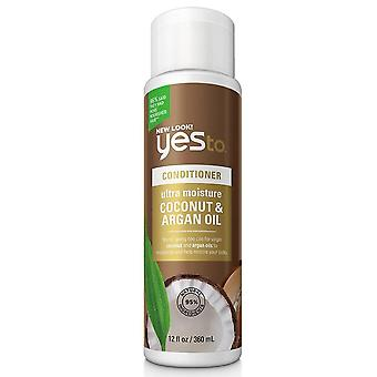 Yes to ultra moisture shampoo, coconut & argan oil, 12 oz