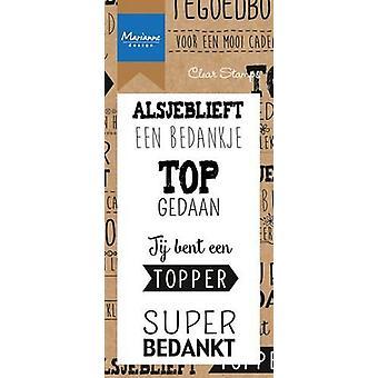Marianne Design Stamp Dank je wel (NL) CS0971