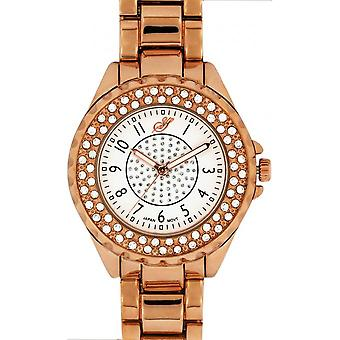 Jean Bellecour Big City Dreams A0267-5 - Pink Gold Glamour Women's Watch