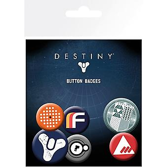Destiny Mix Pin Button Badges Set