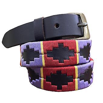 Carlos diaz kids unisex  brown leather  polo belt cdkupb7