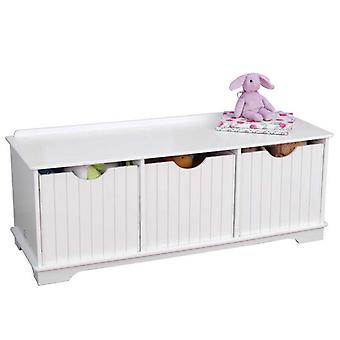 KidKraft Bench with Nantucket Storage Containers