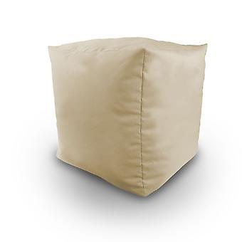 Klaar Steady Bed Bean Gevulde Cube Poef Footstool in Steen. Ideaal voor ontspanning, zitplaatsen, loungen, geweldig voor volwassenen, tieners en kinderen. Gemaakt van waterbestendig materiaal, verkrijgbaar in 8 geweldige kleuren