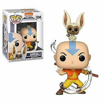 Avatar the Last Airbender Aang with Momo Pop! Vinyl