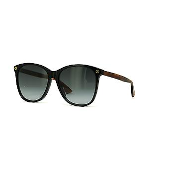 Gucci GG0024S 003 Black-Havana/Grey Gradient Sunglasses