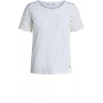 Oui Delicate Anglais Effect T-Shirt