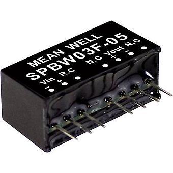 Mean Nou SPBW03G-03 DC / DC converter (module) 700 mA 3 W Nr. van de uitgangen: 1 x