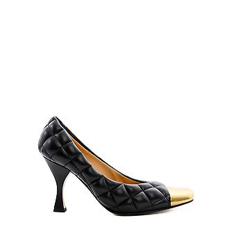 Bottega Veneta 592040vbrr01000 Damen's Schwarze Lederpumps