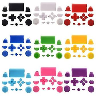 Replacement Mod Kit Set Full Buttons Custom Sony PS4 Playstation Controller[Clear Red]