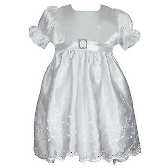 Piger elfenben Satin kjole med hætte - Occassion, barnedåb
