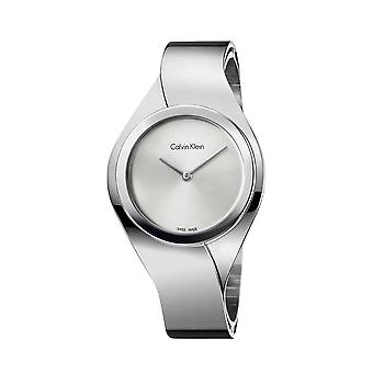 Calvin Klein K5N2M126 Senses Silver Dial Medium Bangle Ladies Orologio