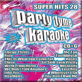Party Time Karaoke - Super Hits 28 (16 So [CD] USA import