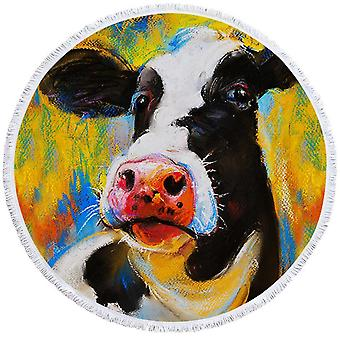 Art Painting Cow Beach Towel