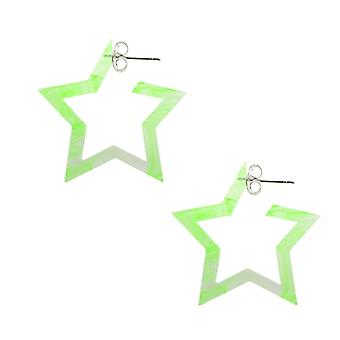 Peridot UV React Star Ear Hoop