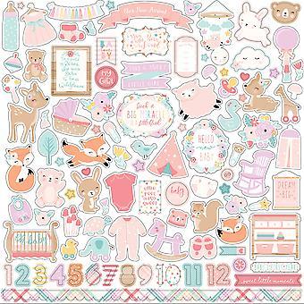 Echo Park Hello Baby Girl 12x12 Inch Element Sticker
