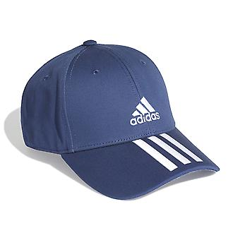 adidas 3-Stripes Mens Kids Lightweight Twill Baseball Cap Hat Blue/White