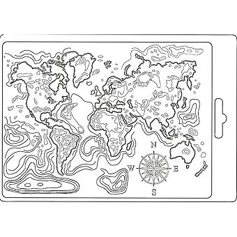 Soft Mould A5 Carte du monde (K3PTA544)