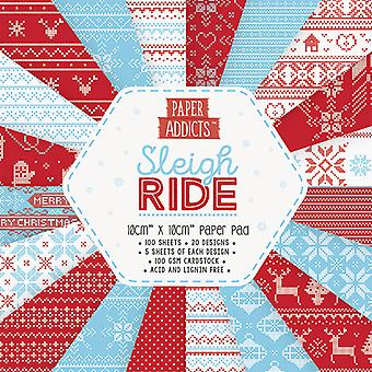 Paper Addicts Sleigh Ride 10x10cm Paper Pad