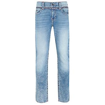 True Religion Geno Slim Fit Tejpade Detalj Blå Denim Jeans