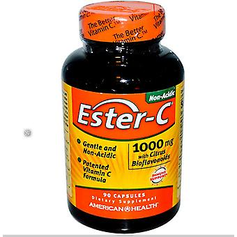 Ester-C mødte citrus-bioflavonoïden 1000 mg (90 kapsler)-amerikansk sundhed