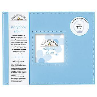 Doodlebug Design Bubble Blue 8x8 pulgadas Storybook Album
