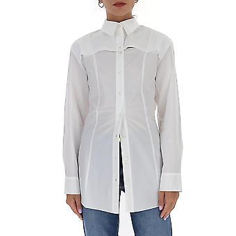 Jacquemus 203sh09203122100 Women's White Cotton Shirt