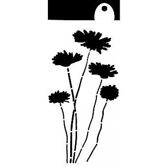 IndigoBlu Daisies 6x3 Inch Stencil