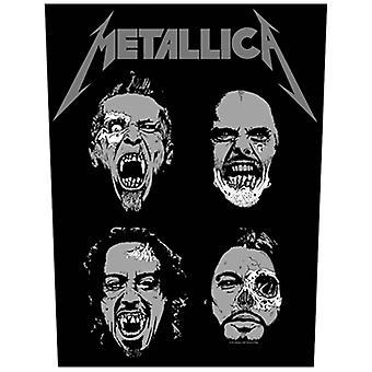 Metallica Back Patch Undead Logo Official New Black  Woven (36cm x 29cm)