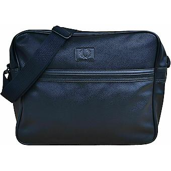 FRED PERRY Classic Tumbled PU Shoulder Messenger Airliner Bag L5262-102