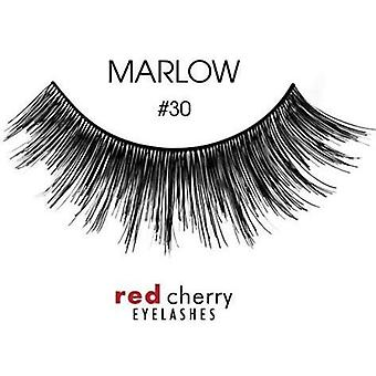 Red Cherry False Eyelashes - #30 Marlow - Perfect Curl Handmade Lashes