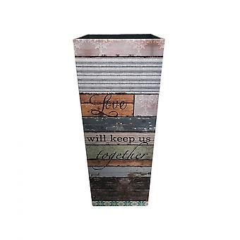 Rebecca Möbler Brown Square Paraply Mdf Canvas Beige Entré 50x20x20