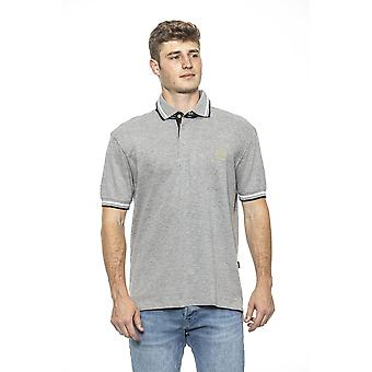 Grigio grey muscle fit men's polo shirt