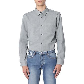 A.p.c. Codadh02396fauxnoir Men's Grey Cotton Shirt
