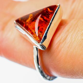 Baltic Amber Ring Size 6.25 (925 Sterling Silver)  - Handmade Boho Vintage Jewelry RING25674