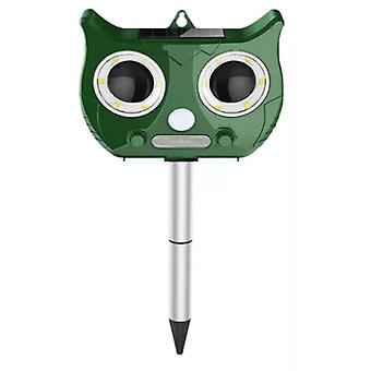Water resistant ultrasonic shockers against animals and insects, solar cell - Green cat