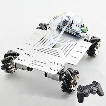 20kg Big Load Smart Rc Mecanum Wheel Robot Car Chassis Kit Omni Platform z kontrolerem Ps2 Mega2560 dla projektu Arduino (1 zestaw robotów rc)
