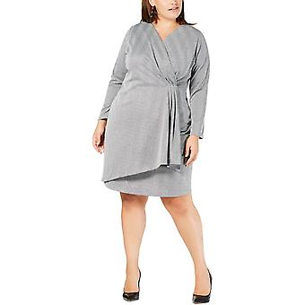 NY Collection | Plus Size Faux-Wrap Dress