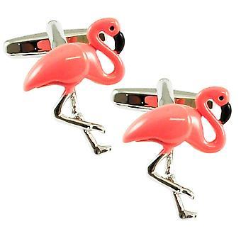 Ties Planet Pink Flamingo Luxury Cufflinks