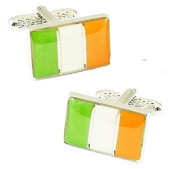 Krawatten Planet Irland Flagge Neuheit Manschettenknöpfe