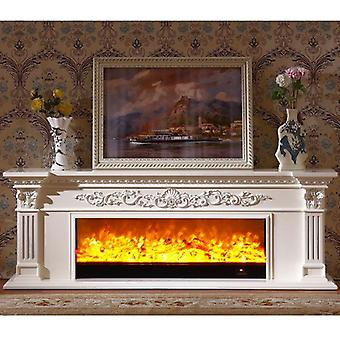 Foyer chauffant Bois Mantel Insertion électrique Led Optical Artificial Flames